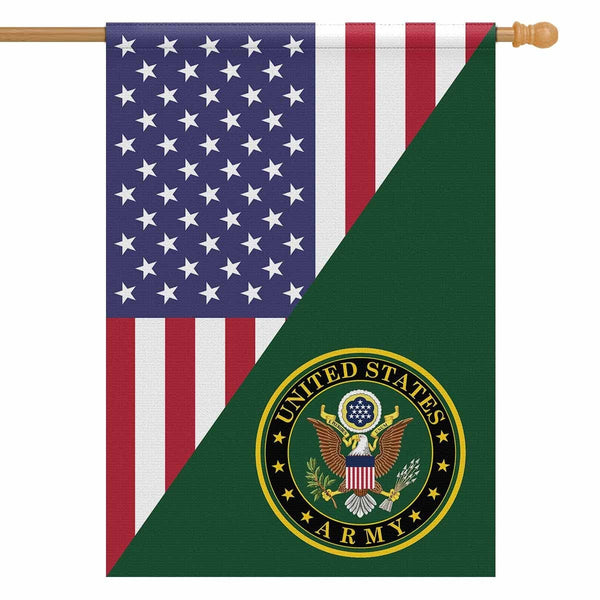 US Army House Flag 28 inches x 40 inches Twin-Side Printing