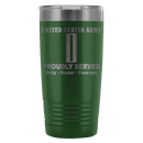 US Army W-5 Chief Warrant Officer 5 W5 CW5 Warrant Officer Proudly Served - 20 Oz Ounce Vacuum Tumbler