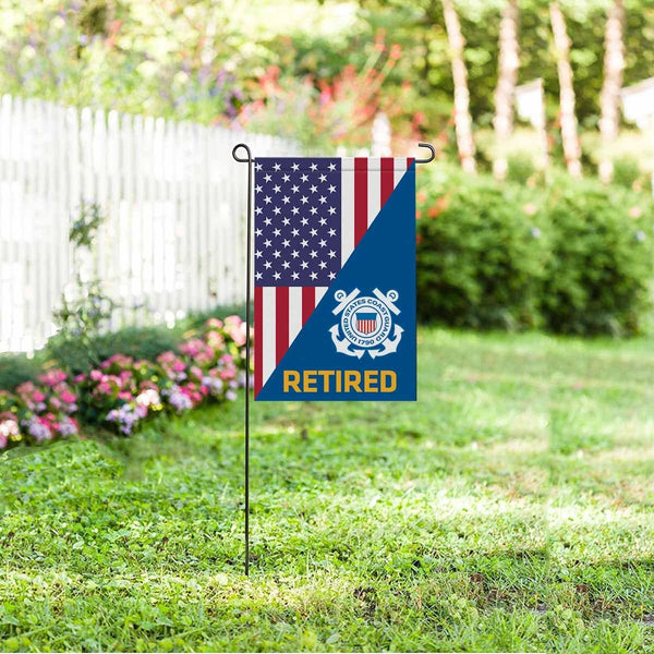 US Coast Guard Garden Flag/Yard Flag 12 inches x 18 inches Twin-Side Printing