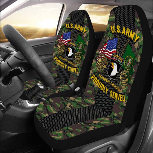 US Army 101st Airborne Division Car Seat Covers (Set of 2)