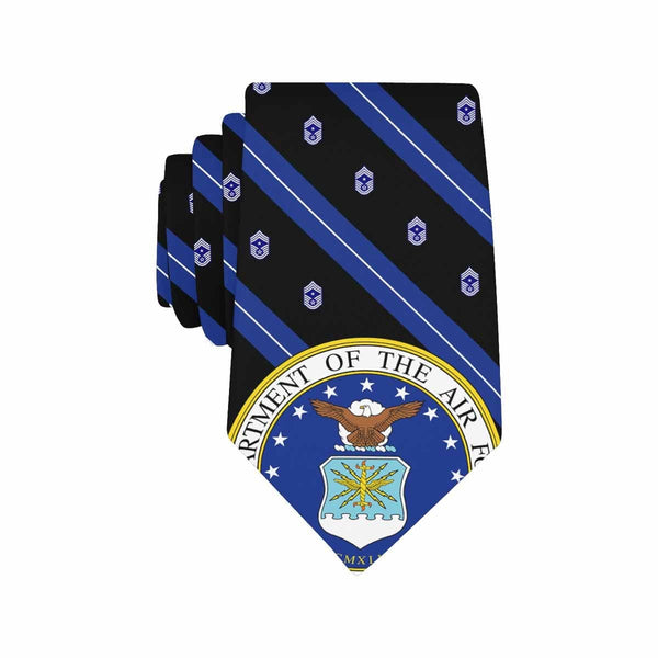 US Air Force E-9 CCM  Classic Necktie (Two Sides)