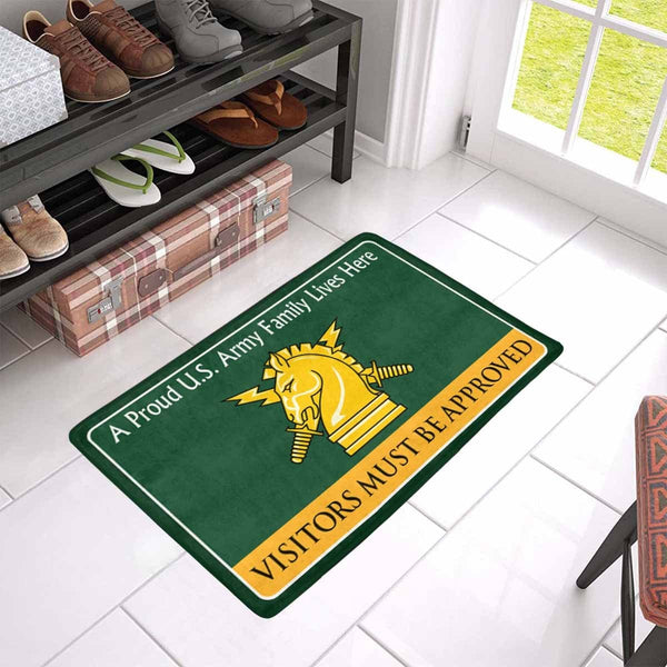 US Army Psychological Ops Family Doormat - Visitors must be approved Doormat (23.6 inches x 15.7 inches)