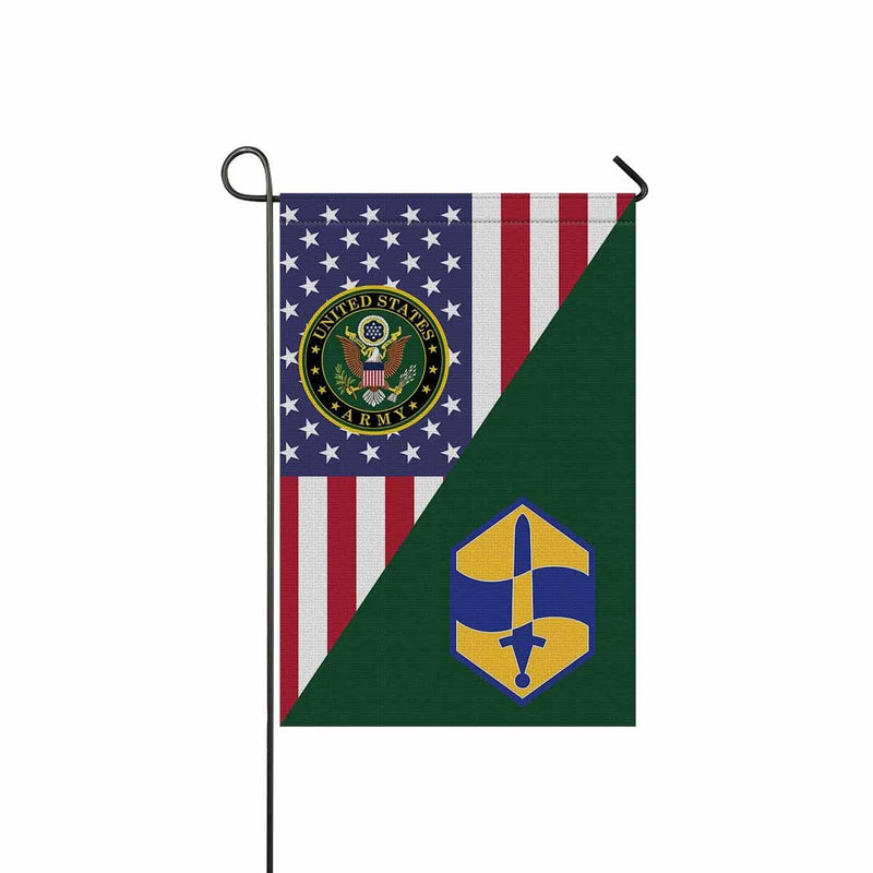 US ARMY 460 CHEMICAL BRIGADE Garden Flag/Yard Flag 12 inches x 18 inches Twin-Side Printing