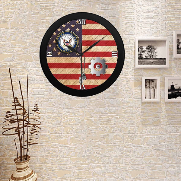 US Navy Engineman Navy EN Wall Clock