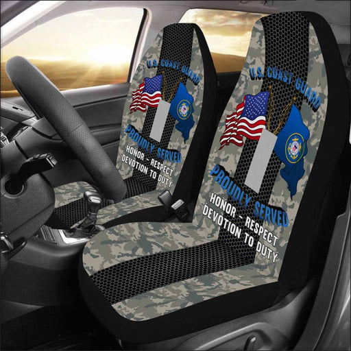 US Coast Guard O-2 Lieutenant Junior Grade O2 LTJG Junior Officer Car Seat Covers (Set of 2)
