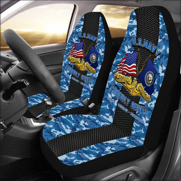 U.S NAVY SUBMARINE WARFARE Car Seat Covers (Set of 2)