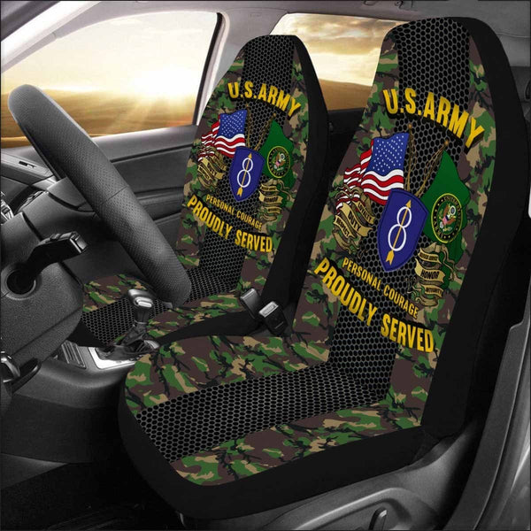 US Army 8th Infantry Division Car Seat Covers (Set of 2)