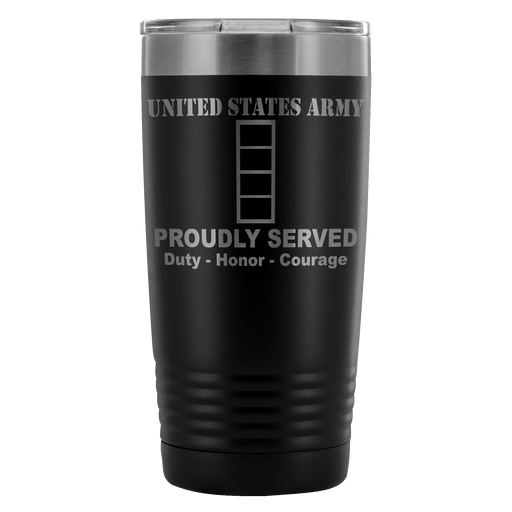 US Army W-4 Chief Warrant Officer 4 W4 CW4 Warrant Officer Proudly Served - 20 Oz Ounce Vacuum Tumbler