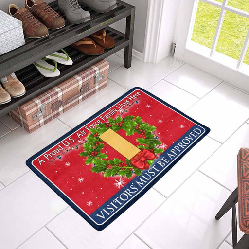 US Air Force O-1 Second Lieutenant 2d Lt O1 Commissioned Officer Ranks - Visitors must be approved - Christmas Doormat