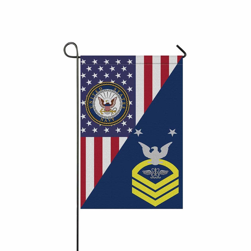 U.S Navy Naval aircrewman Navy AW E-9 MCPO Master Chief Petty Officer Garden Flag/Yard Flag 12 inches x 18 inches Twin-Side Printing