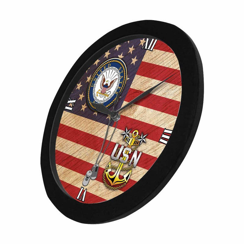 US Navy E-9 Master Chief Petty Officer E9 MCPO Senior Noncommissioned Officer Collar Device Wall Clock