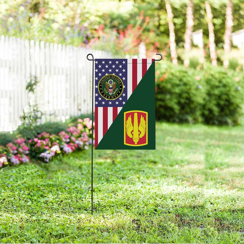 US ARMY 18TH FIELD ARTILLERY BRIGADE Garden Flag/Yard Flag 12 inches x 18 inches Twin-Side Printing