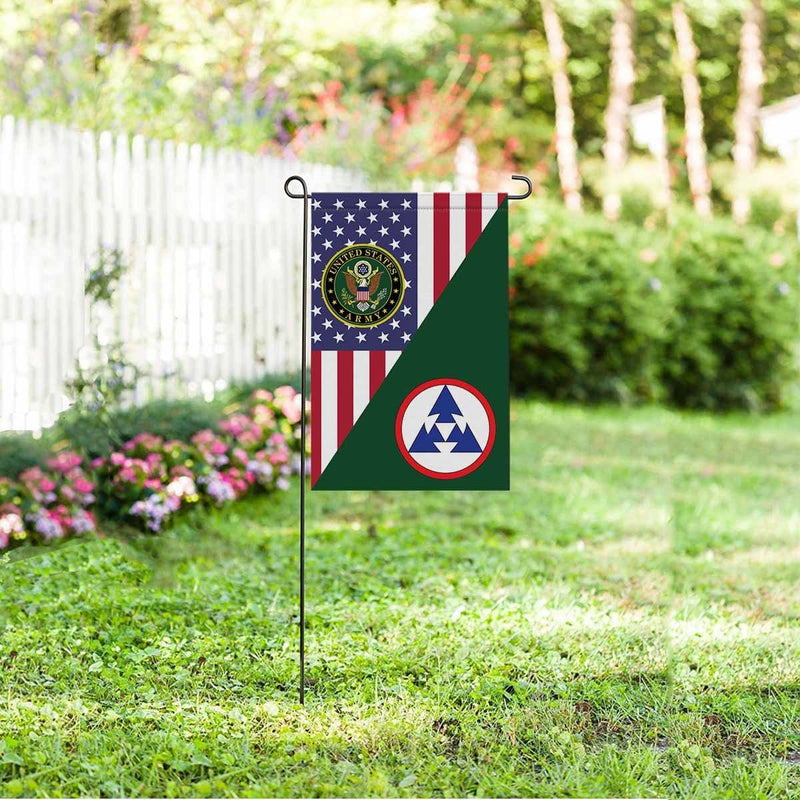 US ARMY 3RD SUSTAINMENT COMMAND Garden Flag/Yard Flag 12 inches x 18 inches Twin-Side Printing