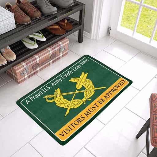 US Army Judge Advocate General\'s Corps Family Doormat - Visitors must be approved Doormat (23.6 inches x 15.7 inches)