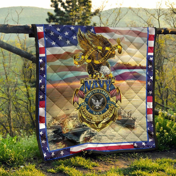 US Navy - Since 1775 The Sea Is Ours - Blanket Quilt