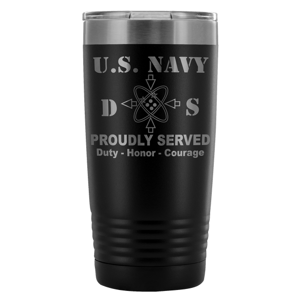 U.S Navy Data Systems Technician Navy DS Proudly Served - 20 Oz Ounce Vacuum Tumbler
