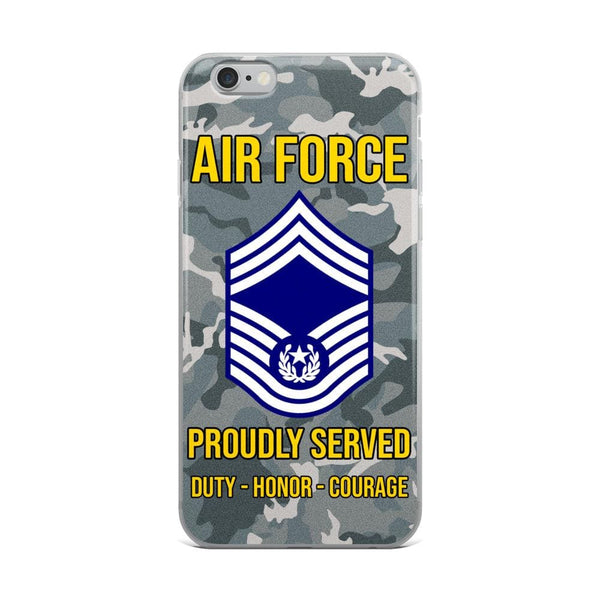 US Air Force E-9 Chief Master Sergeant Of The Air Force E9 CMSAF Noncommissioned Officer (Special) AF Ranks iPhone Case