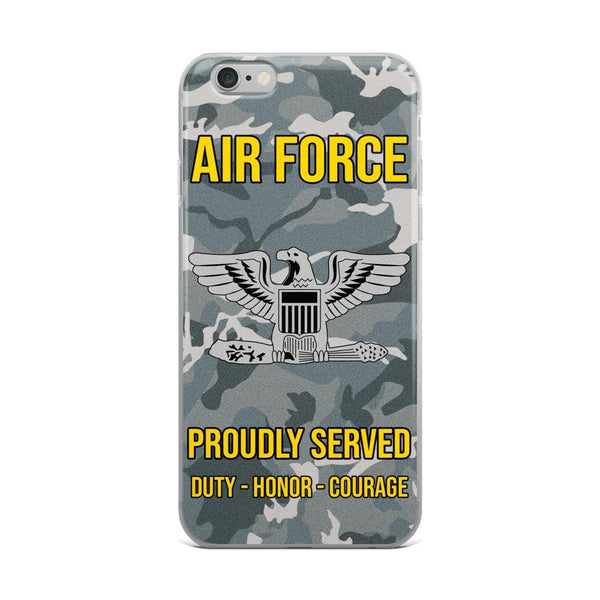US Air Force O-6 Colonel Col O6 Field Officer Ranks iPhone Case