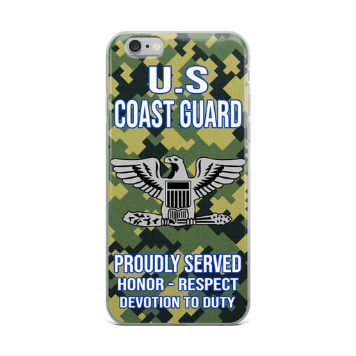 US Coast Guard O-6 Captain O6 CAPT Senior Officer Ranks iPhone Case