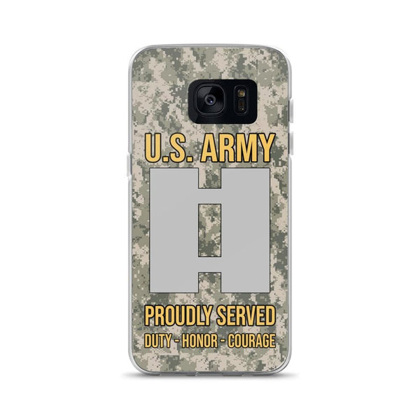 US Army O-3 Captain O3 CPT Commissioned Officer Ranks Samsung Case