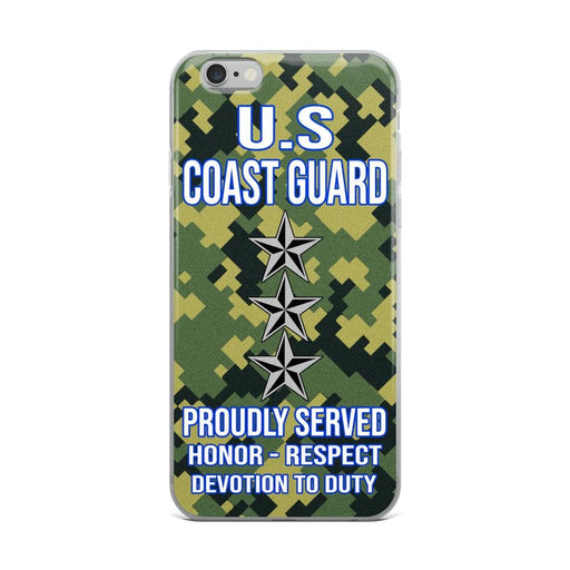 US Coast Guard O-9 Vice Admiral O9 VADM Flag Officer Ranks iPhone Case