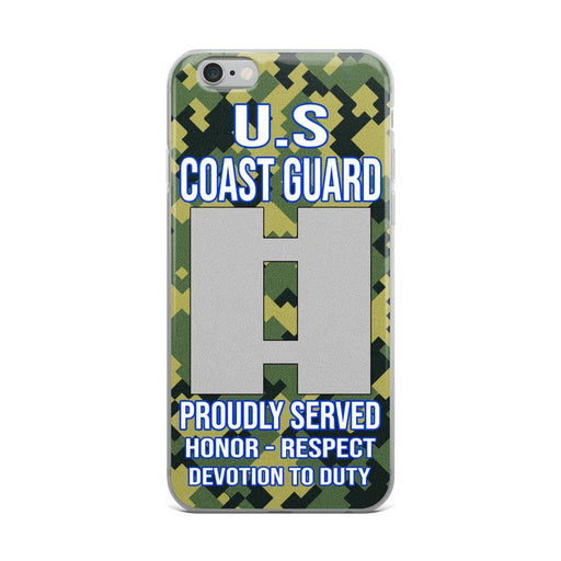 US Coast Guard O-3 Lieutenant O3 LT Junior Officer Ranks iPhone Case