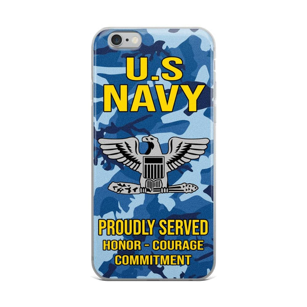 US Navy O-6 Captain O6 CAPT Senior Officer Ranks iPhone Case