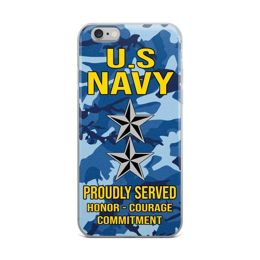 US Navy O-8 Rear Admiral O8 RADM Flag Officer Ranks iPhone Case