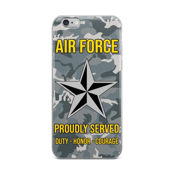 US Air Force O-7 Brigadier General Brig O7 General Officer Ranks iPhone Case