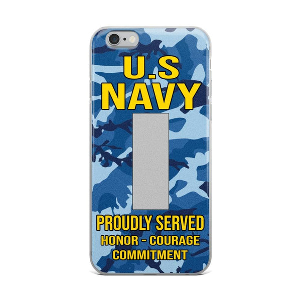 US Navy O-2 Lieutenant Junior Grade O2 LTJG Junior Officer Ranks iPhone Case