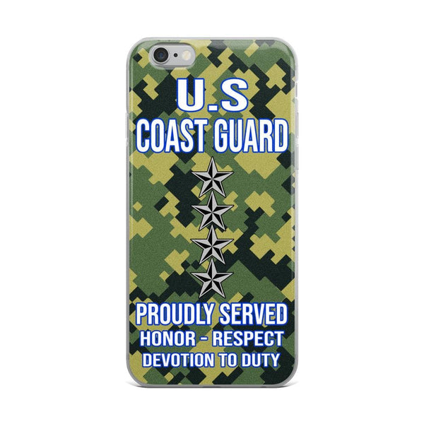 US Coast Guard O-10 Admiral O10 ADM Flag Officer Ranks iPhone Case