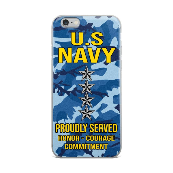 US Navy O-10 Admiral O10 ADM Flag Officer Ranks iPhone Case