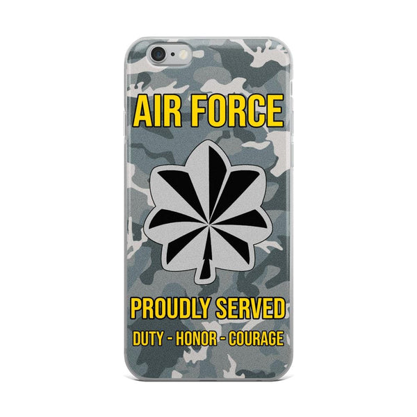US Air Force O-5 Lieutenant Colonel Lt Co O5 Field Officer Ranks iPhone Case
