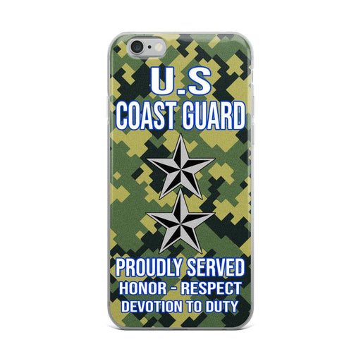US Coast Guard O-8 Rear Admiral O8 RADM Flag Officer Ranks iPhone Case
