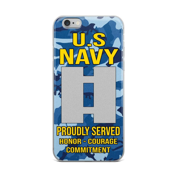 US Navy O-3 Lieutenant O3 LT Junior Officer Ranks iPhone Case