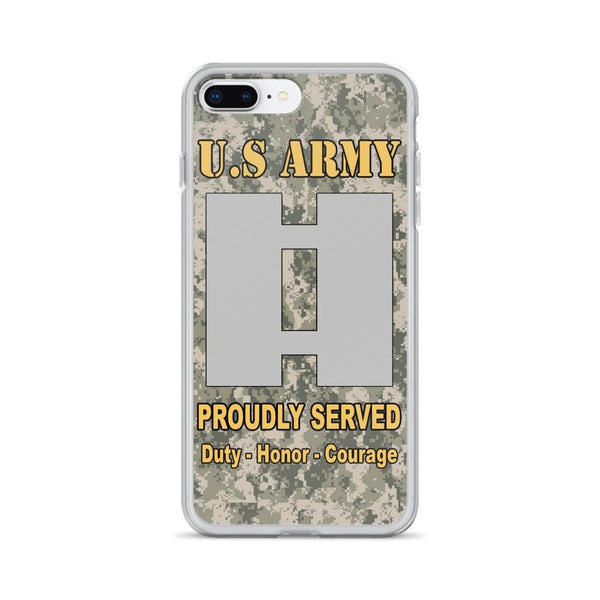 US Army O-3 Captain O3 CPT Commissioned Officer Ranks iPhone Case