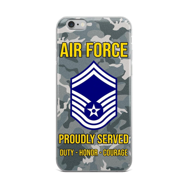 US Air Force E-8 Senior Master Sergeant SMSgt E8 Noncommissioned Officer AF Rank iPhone Case