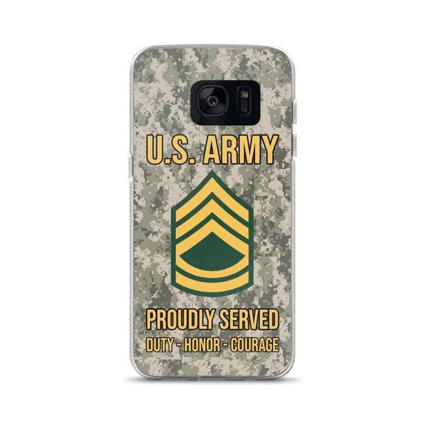US Army E-7 Sergeant First Class E7 SFC Noncommissioned Officer Ranks Samsung Case