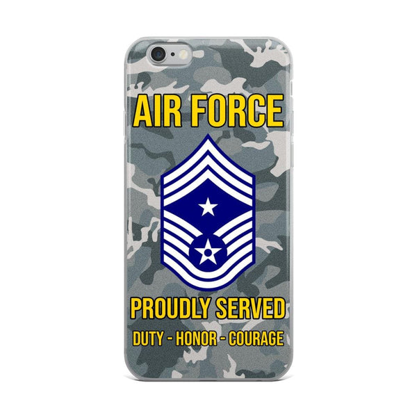 US Air Force E-9 Command Chief Master Sergeant CCM E9 Noncommissioned Officer Ranks iPhone Case