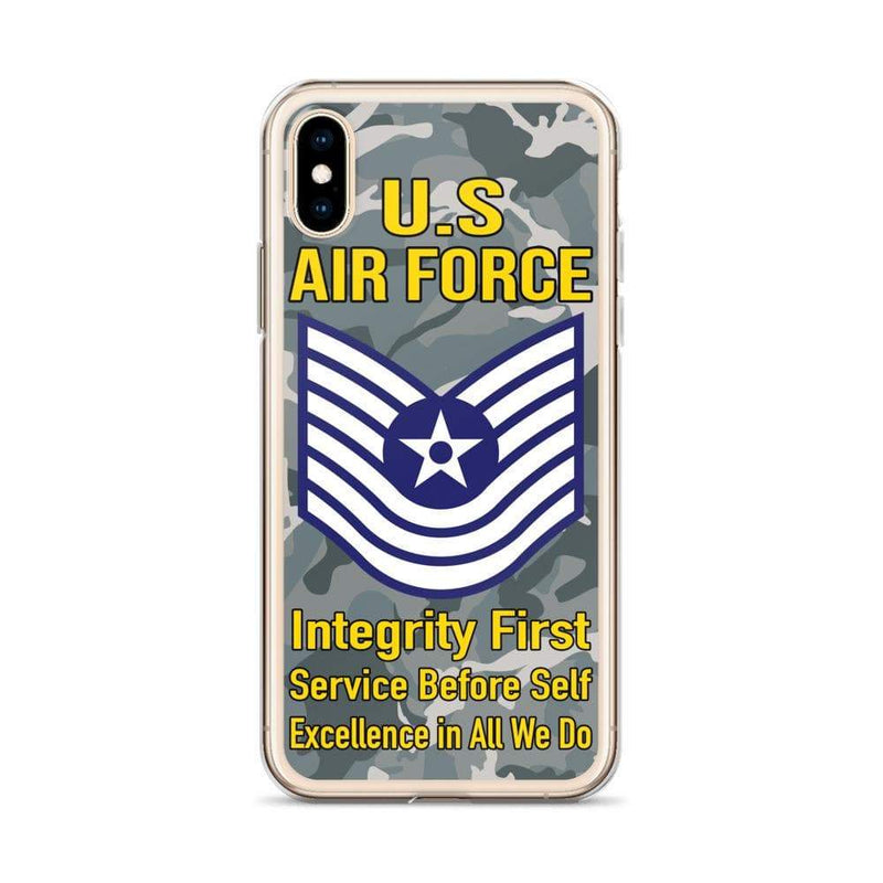 US Air Force E-7 Old Style Rank iPhone Case