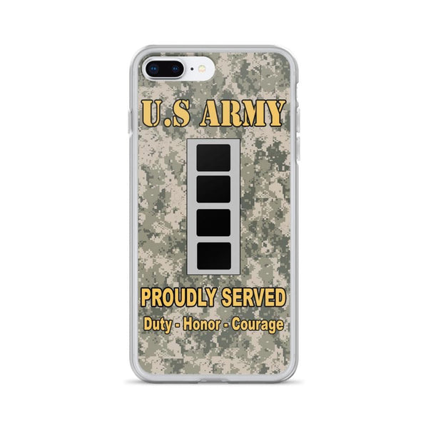 US Army W-4 Chief Warrant Officer 4 W4 CW4 Warrant Officer Ranks iPhone Case