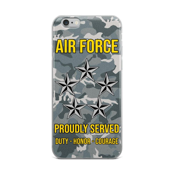 US Air Force O-10 General of the Air Force GAF O10 General Officer Ranks iPhone Case