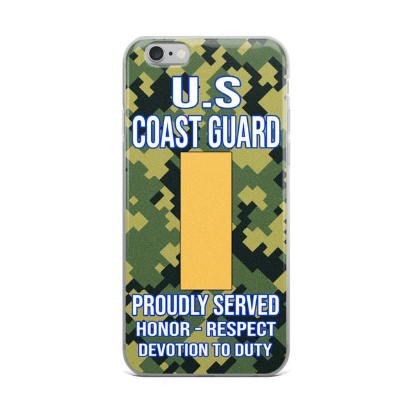 US Coast Guard O-1 Ensign O1 ENS Junior Officer Ranks iPhone Case