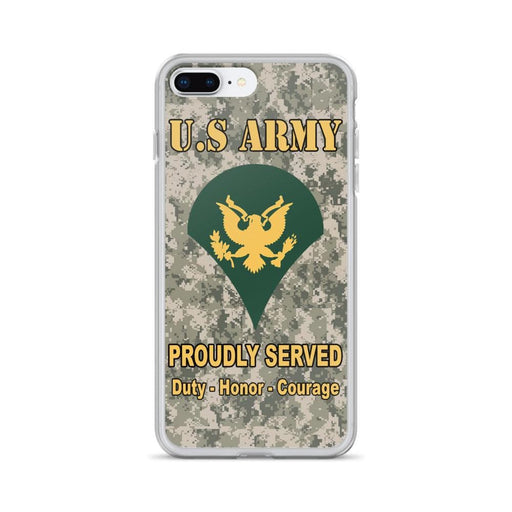 US Army E-4 SPC E4 Specialist Ranks iPhone Case