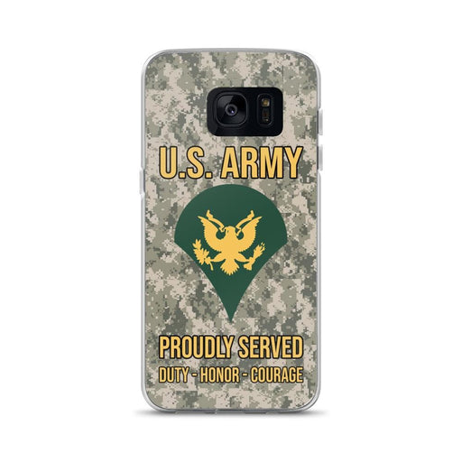 US Army E-4 SPC E4 Specialist Ranks Samsung Case