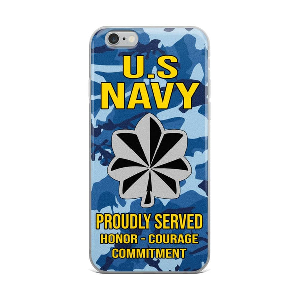 US Navy O-5 Commander O5 CDR Senior Officer Ranks iPhone Case