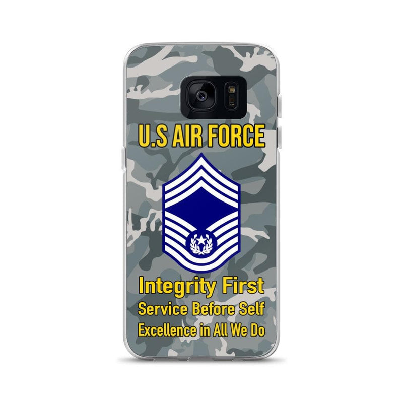 US Air Force E-9 Chief Master Sergeant Of The Air Force E9 CMSAF Noncommissioned Officer (Special) AF Ranks Samsung Case