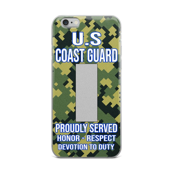 US Coast Guard O-2 Lieutenant Junior Grade O2 LTJG Junior Officer Ranks iPhone Case
