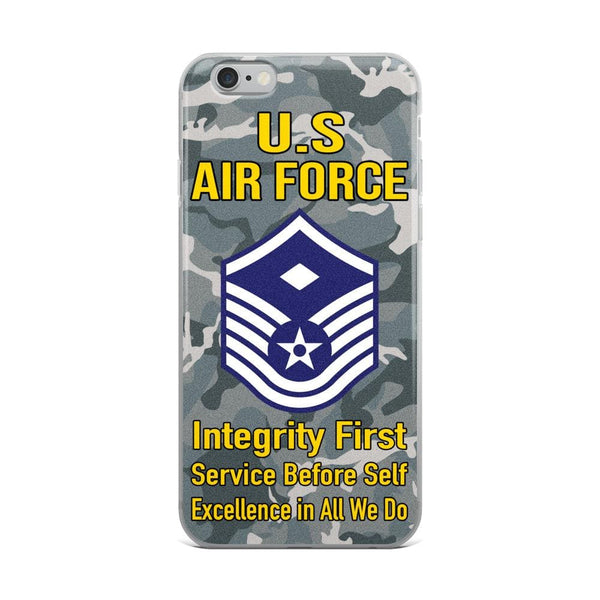 US Air Force E-7 First sergeant E-7 Rank iPhone Case