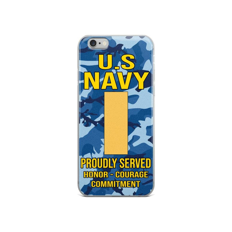 US Navy O-1 Ensign O1 ENS Junior Officer Ranks iPhone Case
